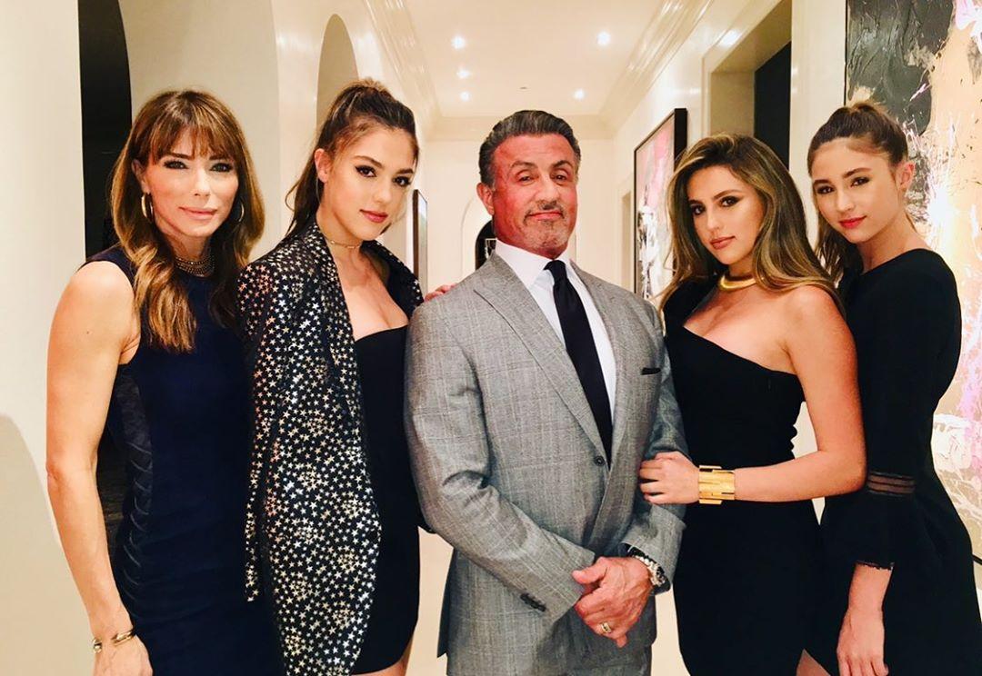 Stallone y familia