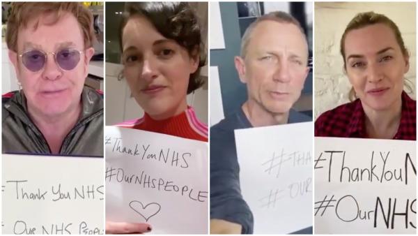 Celebridades Británicas agradecen al servicio de salud
