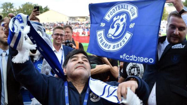 Maradona, presidente del Dynamo Brest de Bielorrusia.