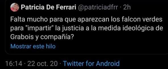 Tuit Patricia de Ferrari