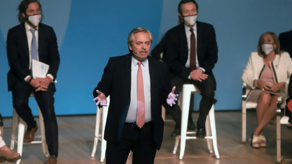 Alberto Fernández en el lanzamiento del Consejo Económico y Social