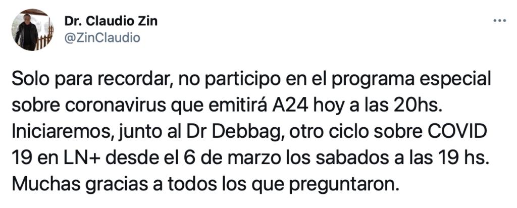 Dr. Claudio Zin