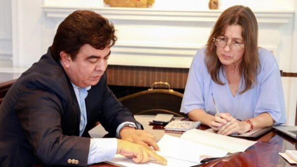 Fernando Espinoza y Sabina Frederic le declararon la guerra a la inseguridad.