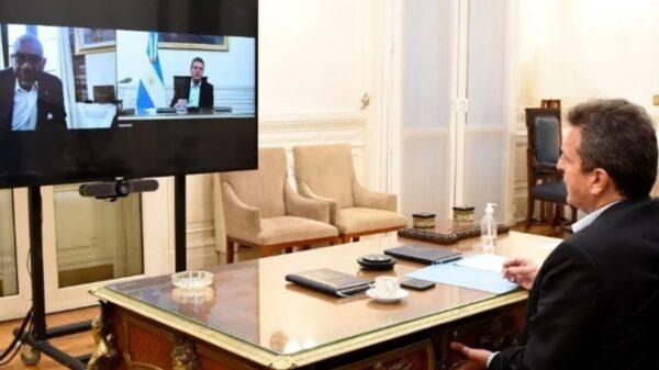 Sergio Massa mantuvo una reunión virtual con referente parlamentario de Estados Unidos