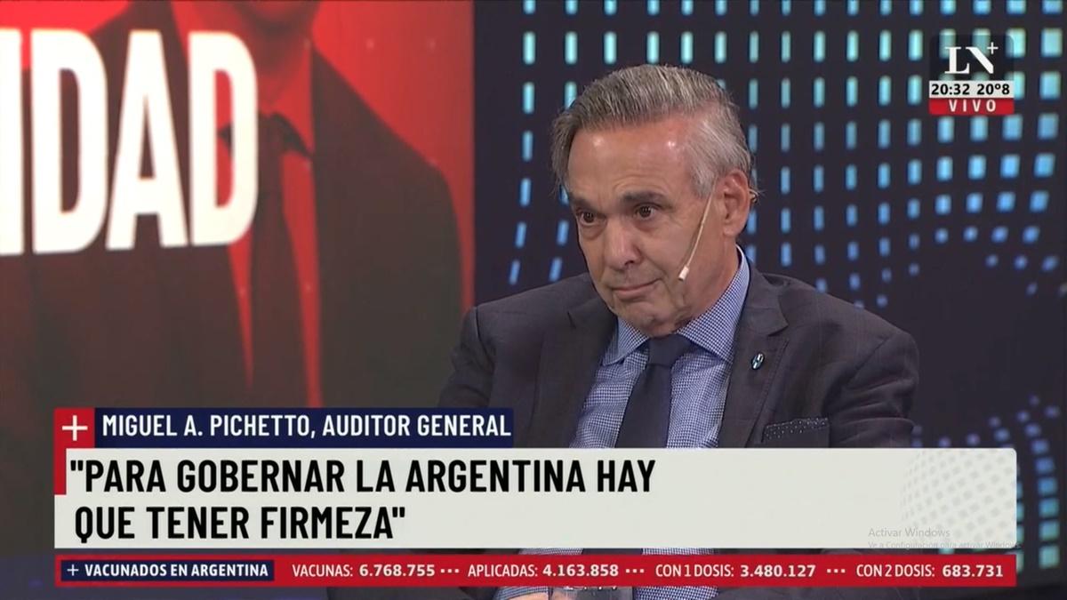 Miguel Ángel Pichetto aseguró que los medios están instalando el miedo