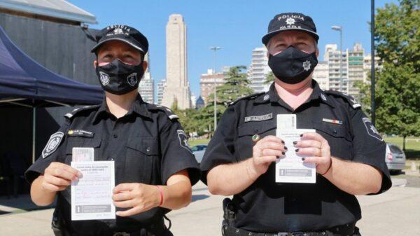 Comenzó la campaña de vacunación de personal policial operativo en Santa Fe