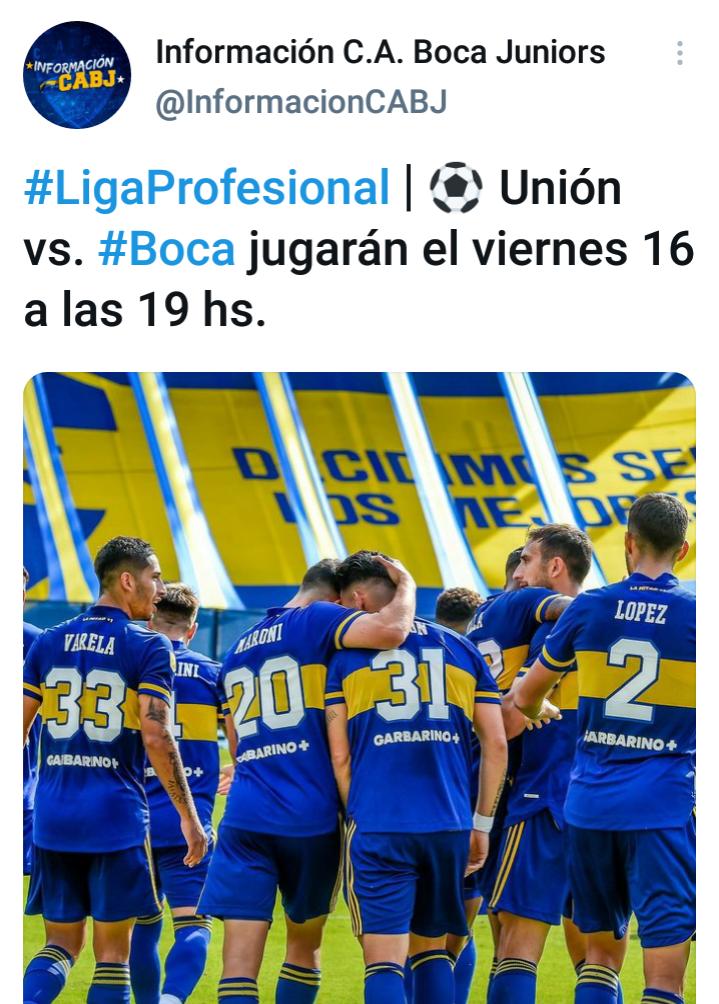 Confirmada la fecha del partido entre Boca y Unión por la ...